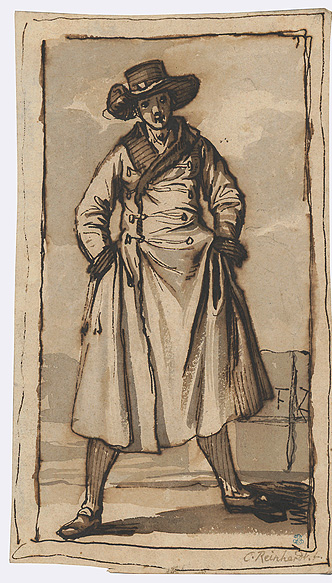 Young Man with a coat and hat
