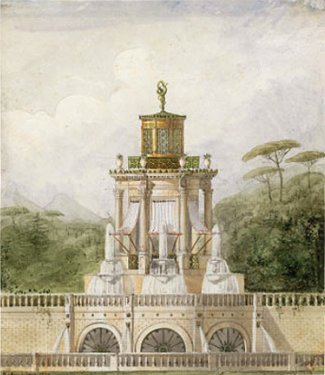 Charles-Frédéric Chassériau: Design for a Pavilion with Fountains
